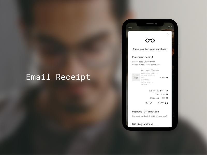 Daily UI Challenge 017 : Email Receipt ui design dailyui017 daily 100 challenge dailyui