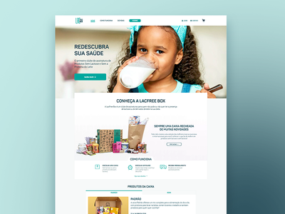 LacfreeBox subscription lactose food interaction ui ux wellness website landingpage