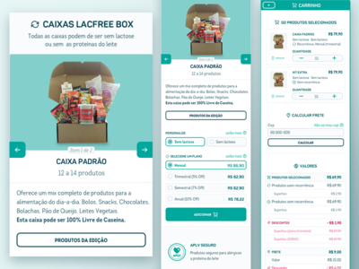 Product page of Mcommerce of lacfree products