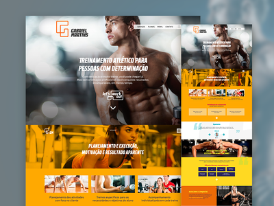 Concept page for personal trainer warm landingpage personal trainer gym bodybuilding