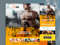 Concept page for personal trainer