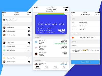 Banking App Vibe card app bank ios clean ux ui
