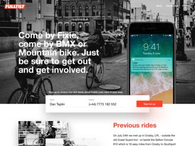Riding Crew 🚴 shadows helvetica signup button ui web