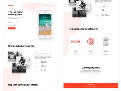 Riding Crew (updated visuals) cycle bike bicycle shadows helvetica signup button ui web