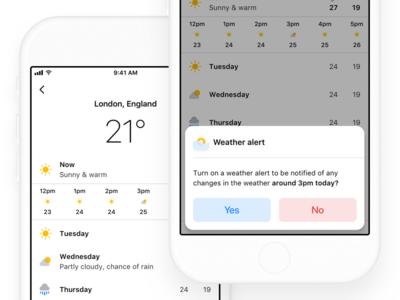 Apple Weather iOS Concept #uiproblemsolving2 widget app weather clean apple ios ux ui