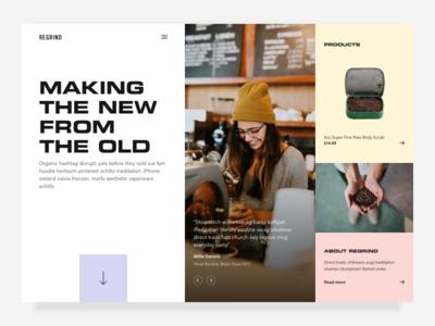 Vibing ✨ clean flat grid pastel ui website web