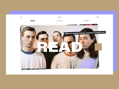 Punk Music Publication 💀 publication music punk extended experiment concept exploration gridless type web ux ui