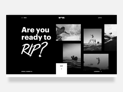 Surf Site 🤙 surfing surf gridless layers dirty clean web ux ui