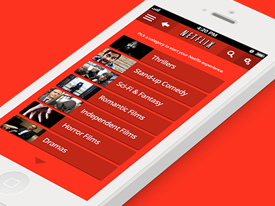 Netflix Application iOS7