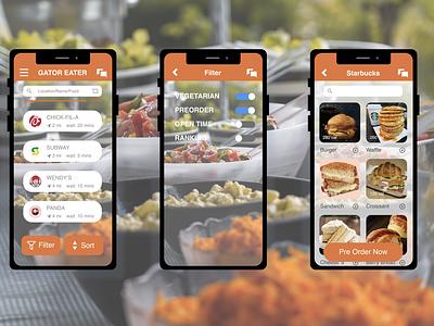 DailyUI 075 Pre Order mobile design school app food app preorder mobile app daily 100 challenge daily ui dailyui075