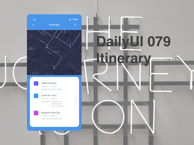 DailyUI079 -  itinerary trip planner itinerary travel app mobile app daily 100 challenge dailyui079