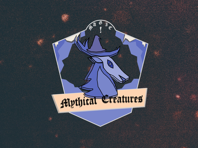 DailyUI084 - Badge mythical creature. beast mythical creature creatures magic badge design badgedesign badge logo badge vector daily 100 challenge dailyui dailyui84 dailyuichallenge dailyui084