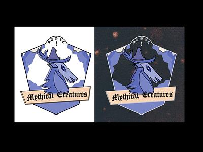 DailyUI 084 (2) mythical creature. beast mythical creature badge badge design