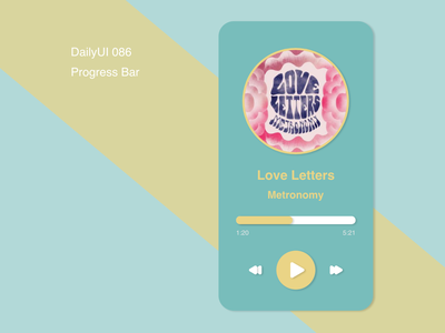 DailyUI086 - Progress Bar mobile progress bar progressbar music app mobile app dailyui daily 100 challenge design
