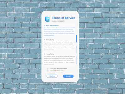 DailyUI089 - Terms of Service mobile terms and conditions privacy policy terms of service mobile app daily 100 challenge dailyui