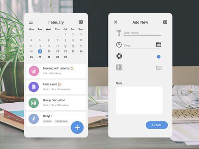 DailyUI090 - Create New task task list task manager calendar create new mobile app dailyui daily 100 challenge dailyuichallenge dailyui090
