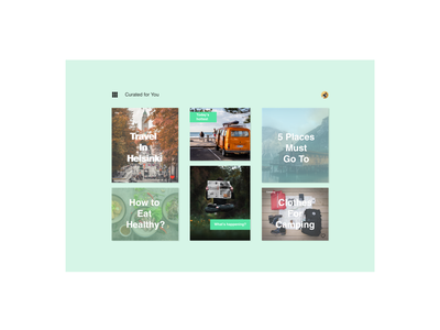 DailyUI091 - Curated for You daily 100 challenge travel curated curated for you webdesign dailyuichallenge dailyui dailyui091