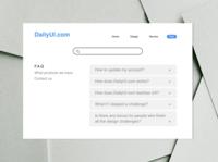 DailyUI092 - F.A.Q