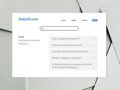 DailyUI092 - F.A.Q question faqs faq webdesign design daily 100 challenge dailyui dailyui092