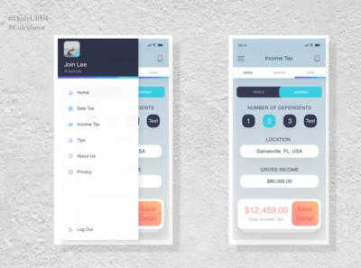 DailyUI004-Income Tax Calculator
