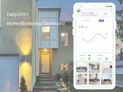 DailyUI021 Home monitoring dashboard