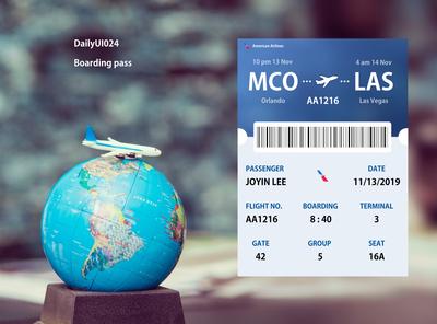 DailyUI024 Boarding pass
