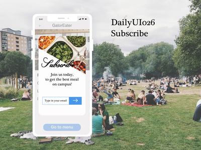 DailyUI026 Subscribe