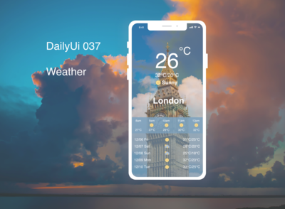DailyUI 037 Weather