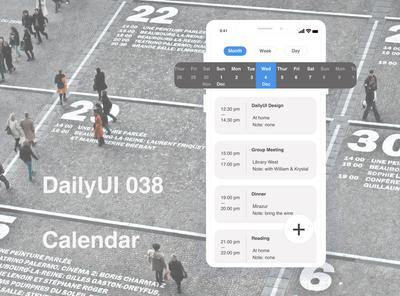 DailyUI038 Calendar