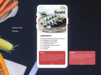 DailyUI 040 Recipe