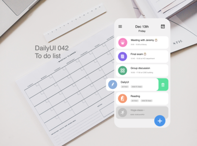 DailyUI 042 To Do List