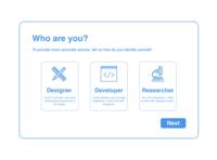DailyUI064 - Select User Type
