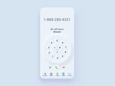 Neumorphism iPhone Dial for FUN :) | Light Version