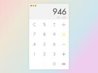 Daily UI #004 – Calculator