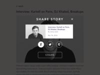 Daily UI #010 –Social Share