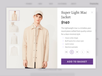 Daily UI #012 – E-Commerce Page, Single Item