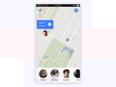 Daily UI #20 – Location Tracker