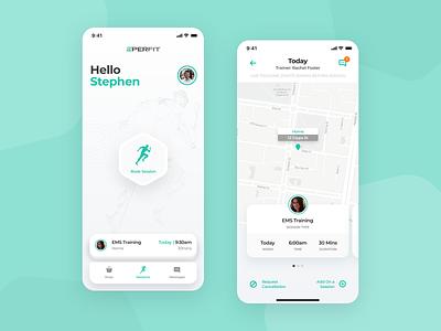 Mobile App - 20 PerFit clean minimal mobile flat ui ux app
