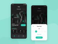 Mobile App - Shop Fitness Training Suit