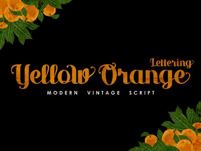 Yellow Orange Lettering