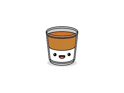 Dalgona coffee, anyone? viral trend vector design dalgona face cute cartoon illustrator drink coffee