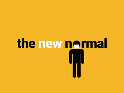 The New Normal minimal typography logo vector flat design coronavirus covid