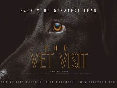 Horror Movies for Dogs minimal typography branding design funny pet dog movie poster horror movies horror