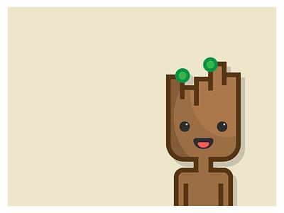 I am (baby) Groot!🌵 illustrator graphic comic graphicdesign vector illustration flat minimalist marvel gotg groot guardiansofthegalaxy