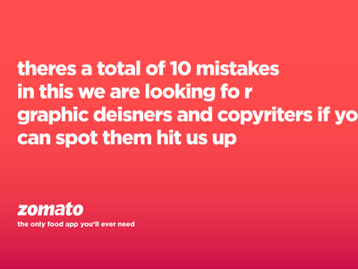 We need more cool people at Zomato.