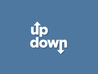 Up and Down Typography lettering type flat ux escalator elevator app typography ui design illustration