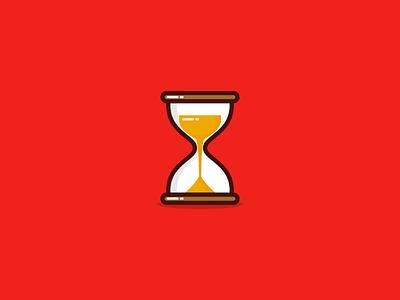 Quick hourglass illustration ⌛ flat web ux branding app vector icon ui design logo illustration