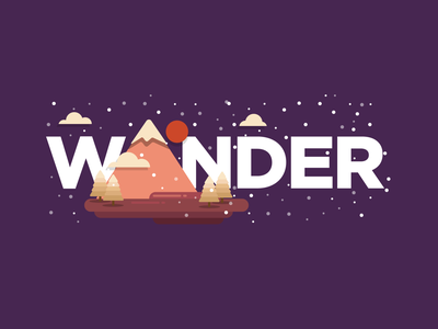 Worry less, travel more. 🌄 minimal lettering type graphic typography branding app icon vector flat illustration design
