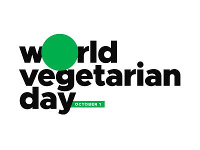 Happy World Vegetarian Day folks! 🍅🍆🥒🥦🥕 sign minimal food typography logo vector flat illustration design day vegan vegetarian world