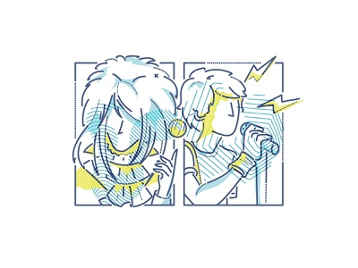 six fan arts 3 james oconnell minimal thumbprint colour and lines labyrinth goblin king scott pilgrim bowie characters illustration